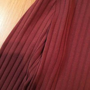 Auburn Color Long Sleeve Dress